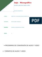 Trabajo Monografico de Audio y Video