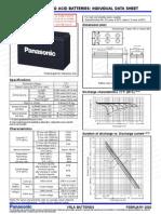 Batteries Panasonic LC R127R2P