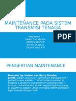 Maintenance Pada Sistem Transimisi Tenaga