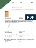 Tech Ed Math Pretest