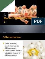 Marketing Mix Decisions – Part 2