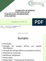 Estudo sobre geração distribuída e protocolos de comunicação de medidores inteligentes
