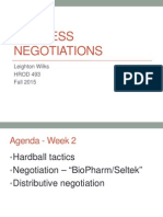 Week 2 - Distributive Negotiation - Post Class