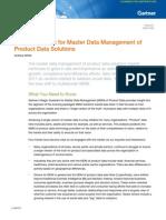 G11.2011 - Magic Quadrant for MDM of Product Data Solutions