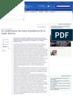Se confirmaron las listas legislativas de la triple alianza (23-04-2015)