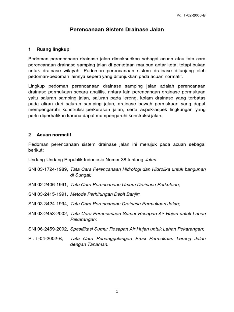 Perencanaan Sistem Drainase Jalan Revised