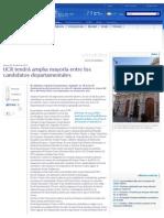 23-04-15 LMC - UCR Tendrá Amplia Mayoría Entre Los Candidatos Departamentales