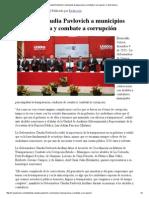 04-12-15 Extiende Claudia Pavlovich a municipios transparencia y combate a corrupción - Canal Sonora