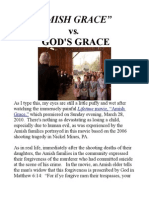 """Amish Grace"" vs. God's Grace"