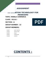 Mobile Commerce(Itm Assingment)