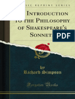 An Introduction to the Philosophy of Shakespeares Sonnets