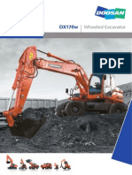 Doosan DX170W Rubber Tyred Excavator
