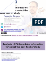 Analysis of Bibliometrics information for select the best field of study