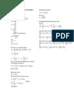 General Fluid Mechanics Formulas