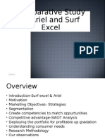 surf excel vs ariel comparitive study