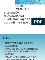 Planurile de Management ale bazinelor hidrografice