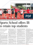 Sports School offers IB to retain top students