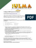 Configurar DHCP para la LAN interna