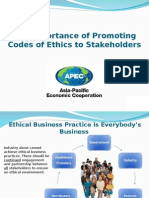Importance of Promoting Codes of Ethics to Stakeholders