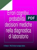 Teorema Di Bayes e Decisioni Mediche di Marco Besozzi