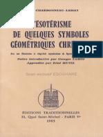 CHARBONNEAU-LASSAY Louis - L'Ésotérisme de Quelques Symboles Géométriques Chrétiens OCR