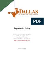 Ergonomics Policy
