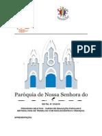 Inscrições do Curso de Educação Popular e Metodologia de Trabalho com Adolescentes e Crianças em Delmiro Gouveia estão abertas