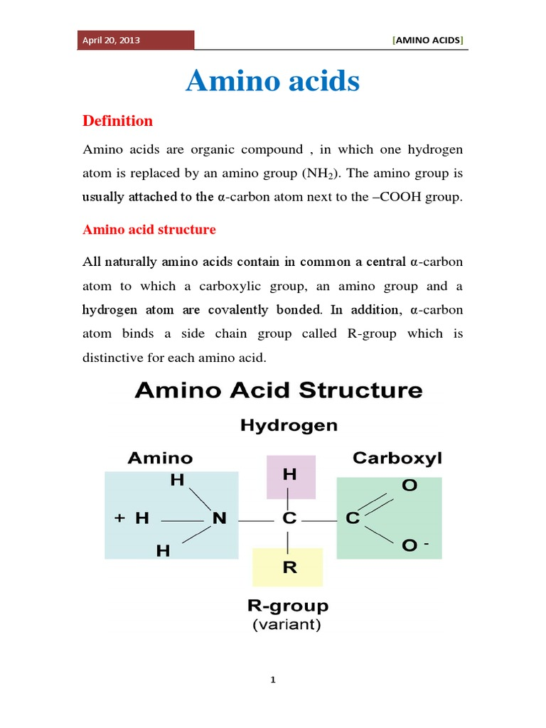 chemistry of amino acid | amino acid | biosynthesis