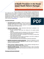 Childrens' Dental Health Project Health Care Reform - Oral Health Summary - 3-23-10