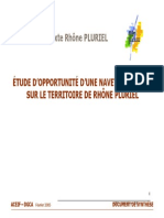 Etude d'opportunite de la navette fluviale sur Rhone