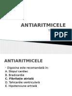 Teste Grilă Antiaritmice