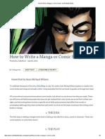 How to Write a Manga or Comic S - North Atlantic Books