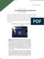 Y Siguen Apareciendo Pasaportes , Por Jean-Claude Paye