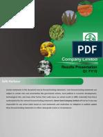 Kaveri Seeds Q1FY16 Results Presentation