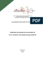 Viabilidade Da Produção de Concentrado de Cores -Dry-blend- Para Injeção de Peças Plasticas