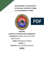 Informe de Metalurgica