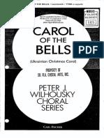 Carol of the Bells Keytones
