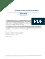 200709 Le Financement Des Pme Et La Reforme de Bale 2