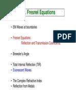 Fresnel Equations