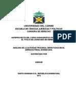 Anteproyecto Actividad Defectuosa en El Derecho Penal (2)