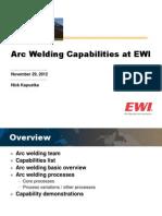 Arc Welding at EWI 2012
