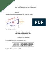 8  sine cosine and tangent in four quadrants