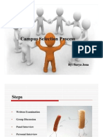 Campus Selection Process/ GD/ PI