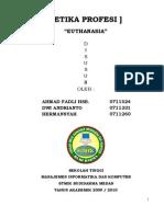 Euthanasia Dalam Medis Dan Hukum Indonesia