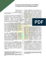 La Defensa Jurídica de Los Intereses Del Estado y Los Conflictos de Competencia Surgida Entre Sus Procuradores Públicos