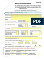 New Vendor Info Form