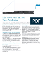 (625255796) PowerVault TL1000 Tape Autoloader Spec Sheet
