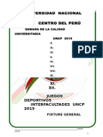 Semana Universitaria Fixture UNCP
