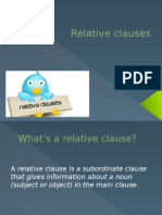 relative clauses for website