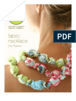 Free Project Sheet - Fabric Necklace by Amy Butler